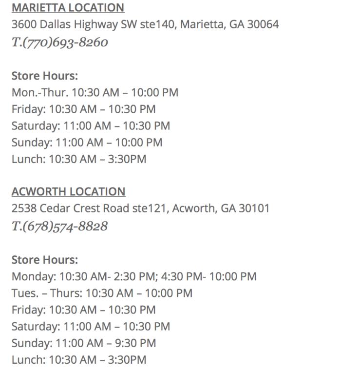 Atami Store info